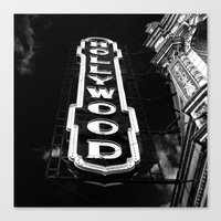 hollywood Canvas Prints featuring Hollywood by Melissa Lund