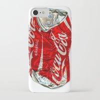 coke iPhone & iPod Cases featuring Pop Coke by StephenHan