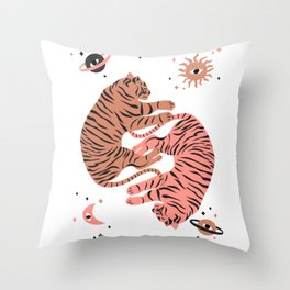 dreaming tigers Throw Pillow