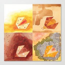 4 Ladybirds Canvas Print