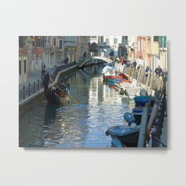 Gondola e barche Metal Print