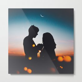 Night love Metal Print