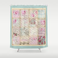 shabby chic Shower Curtains featuring Shabby Chic No.1 by Artistic Home Decor
