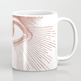 I see you. Rose Gold Pink Quartz on White Coffee Mug