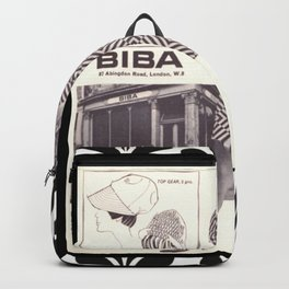 1970s Fashion - A Page from Biba Newspaper Backpack