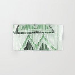 Chilili Watercolor Print in Dark Green Hand & Bath Towel