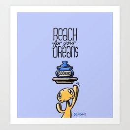 Skribbles: Reach for your dreams Art Print