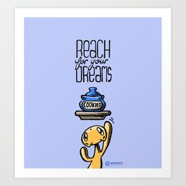Skribbles: Reach for your dreams Art Print