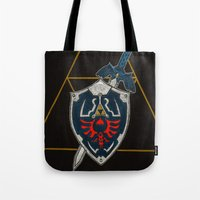 shield Tote Bags featuring Shield  by Jennifer Dillon