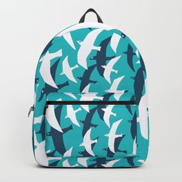 Seagulls, seamless pattern Backpack
