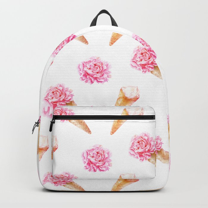 Floral Cones Backpack