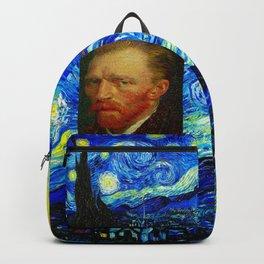 Vincent van Gogh (Dutch, 1853-1890) - Self-Portrait - Date: 1887 - Style: Post Impressionism - Media: Oil - Digitally Enhanced Version (1500 dpi) - Backpack