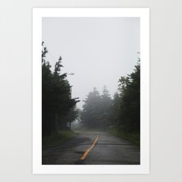 Misty Mysterious Art Print