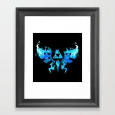 Zelda in Blue Fire Framed Art Print