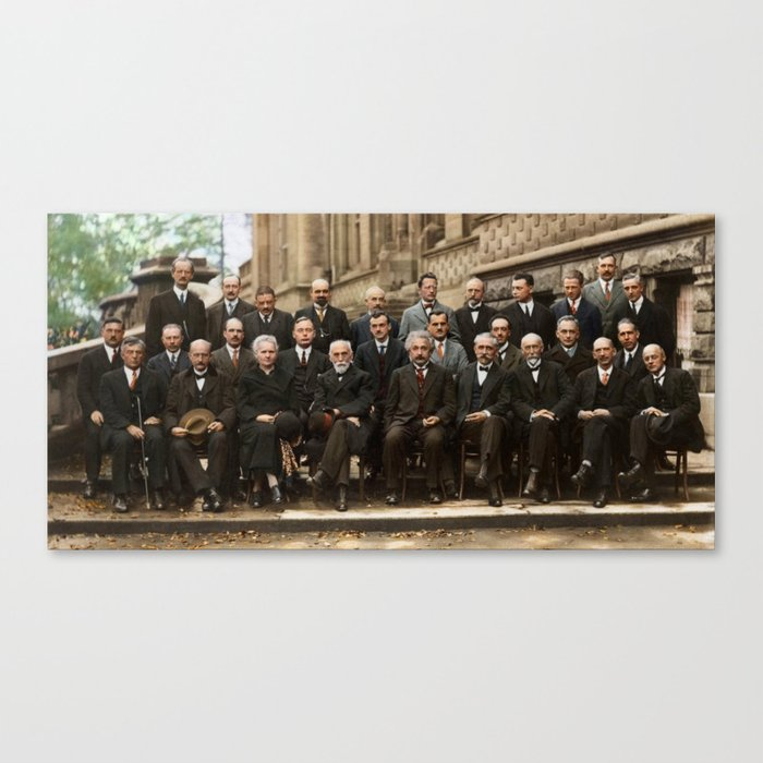 Solvay Conference Leinwanddruck