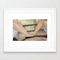 feet Framed Art Prints featuring Feet by wreckthisjessy
