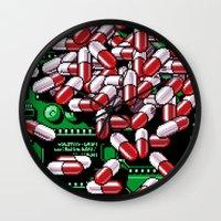 pills Wall Clocks featuring Pills by noirlac