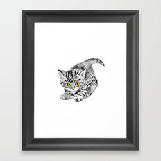 Kitten illustration Framed Art Print
