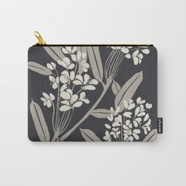 Boho Botanica Black Carry-All Pouch