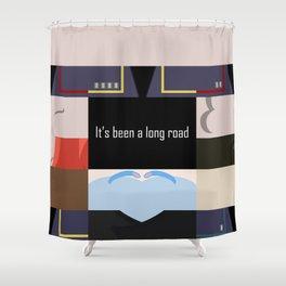 It's been a long road - Star Trek: Enterprise ENT - startrek Trektangle minimalist - trektangles Shower Curtain