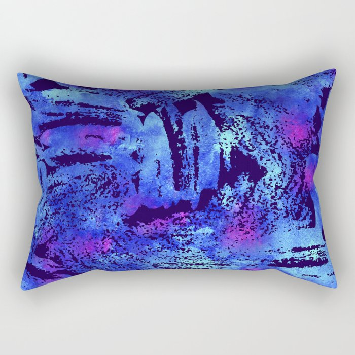 Blue violet cool brush Rectangular Pillow