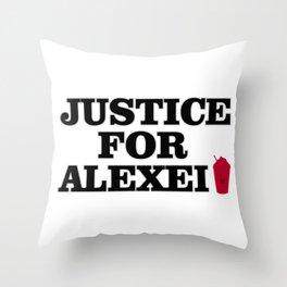 Justice For Alexei Throw Pillow