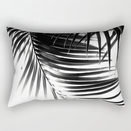 Palm Leaves Black & White Vibes #1 #tropical #decor #art #society6 Rectangular Pillow