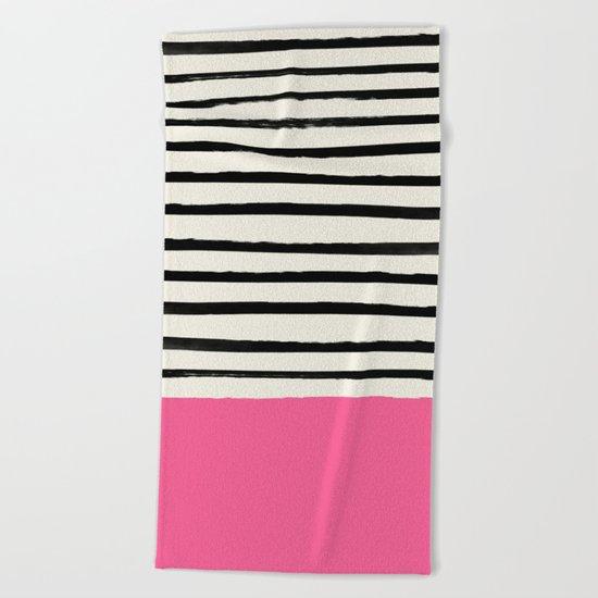 Watermelon & Stripes Beach Towel