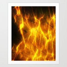 Watery Flames Art Print