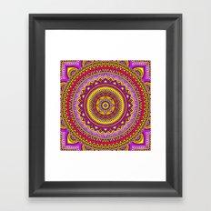 Hippie mandala 22 Framed Art Print