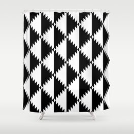 Aztec 3 B&W Shower Curtain