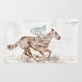 Race Horse, Derby, Kentucky, Rug