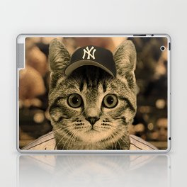 Baseball Cat Laptop & iPad Skin