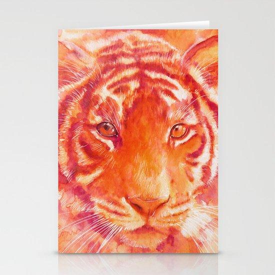 Magenta tiger Stationery Cards