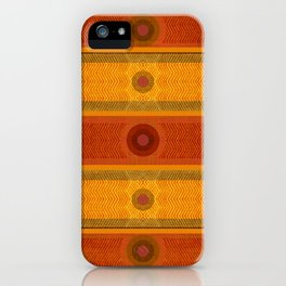 """Ethnic Pattern Warm Tones II"" iPhone Case"