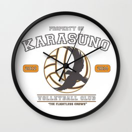 Team Karasuno Wall Clock
