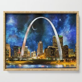 Spacey St. Louis Skyline Serving Tray