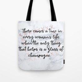 Champagne love Tote Bag