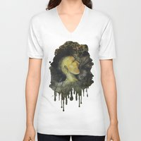 punk rock V-neck T-shirts featuring Punk by Shellie Mix