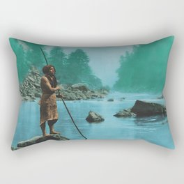 A smoky day at the Sugar Bowl--Hupa Indian Rectangular Pillow