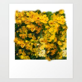 Flower leggings Art Print