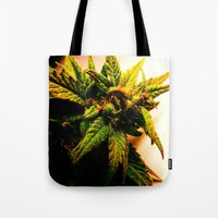 plant Tote Bags featuring Plant by Chronic Cookie
