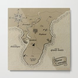 Mythos : Carte de la Pointe Australe Metal Print