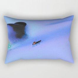Bug on the blue Rectangular Pillow