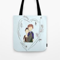 outlander Tote Bags featuring Outlander by Sarcastic Savage