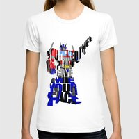 optimus prime T-shirts featuring Optimus Prime by Ayse Deniz