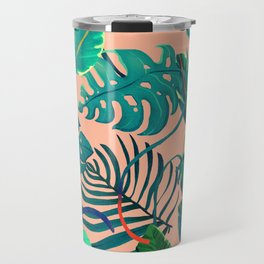 Summer Tropical Leaves Travel Mug