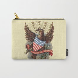E pluribus unum - Out of many, one - vintage United States Bald Eagle hand drawn illustration Carry-All Pouch