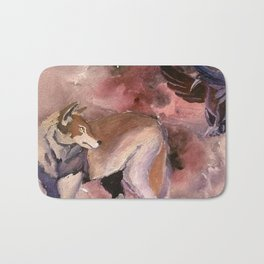 Wolf and Crow Bath Mat