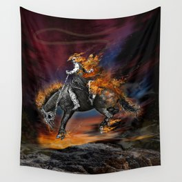 Texas Ghost Rider Wall Tapestry